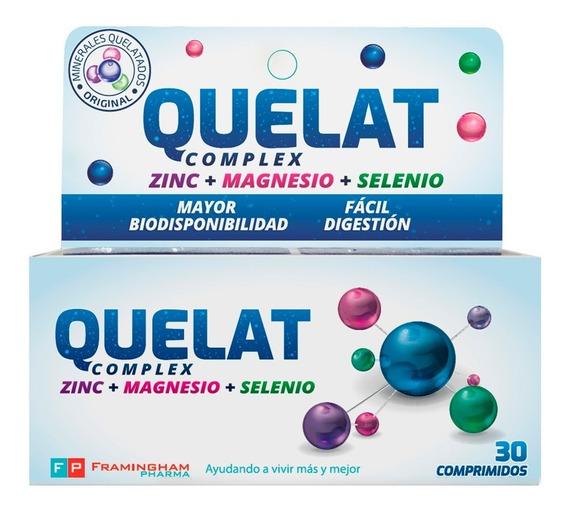 Quelat Complex Zinc + Magnesio + Selenio X 30 Comp. Oferta