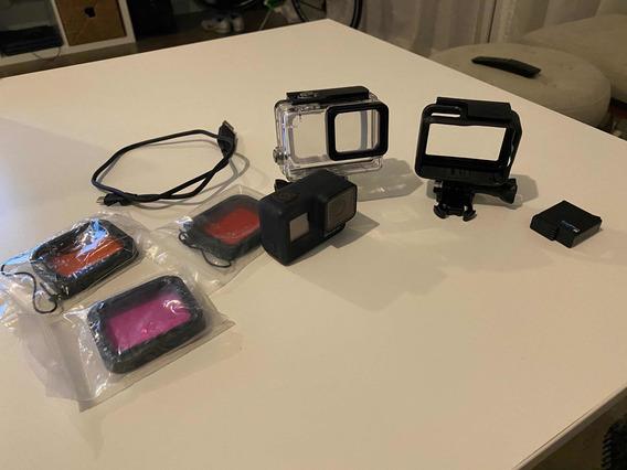 Gopro Hero 7 Black Con Dive Kit- Un Solo Uso Viaje De Amigos