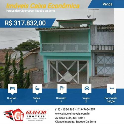 Imóveis Caixa Econômica Para Venda Em Taboão Da Serra, Parque Das Cigarreiras, 3 Dormitórios, 1 Banheiro, 2 Vagas - So0670_1-1115466