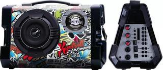 Parlante Kazz Ds08 Karaoke Entrada Guitarra 20w Rms Bt Usb