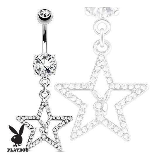 Piercing Para Ombligo Playboy Original Estrella Zirconias Eg
