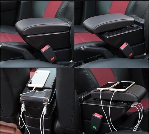 Imagen 1 de 2 de Consola Apoya Brazo Universal Para Carro De Cuero Portavaso