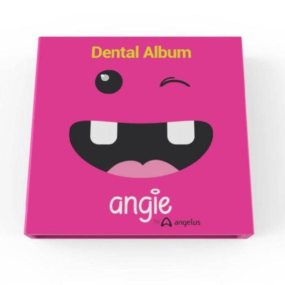 Álbum Do Dentinho Com Porta Dentes - Rosa