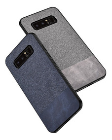 Mica + Leather Case Y Tela Samsung S7 S8 S9 S10 Note 9 8