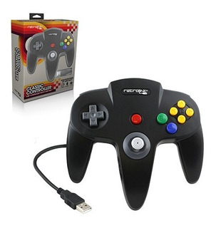 Control N64 Pc Y Mac Nintendo Usb Clasico Original Retrolink