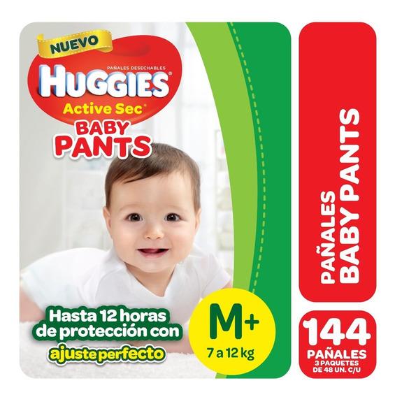 Pañales Huggies Active Sec Baby Pants Pack X 3 - M G Xg Xxg