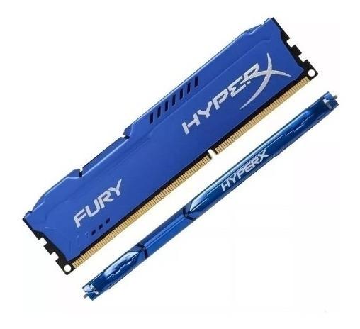 Memoria Kingston Hyperx Fury 8gb (1x8) Ddr3 1600mhz Azul