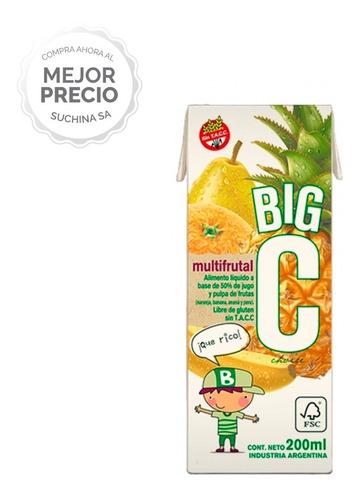 Imagen 1 de 6 de Jugo Big C 200ml Pack X27 Sabor Multifruta Suchina Sa