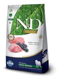 Ração N & D Cães Adultos Raças Gr Cordeiro Blueberry 10kg