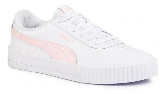 Zapatillas Puma Carina L Moda Urbana Mujer Blanca