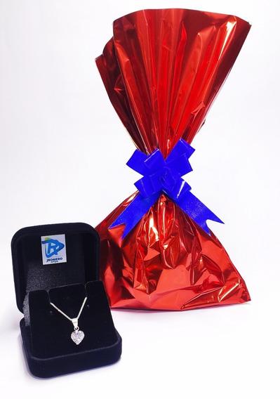 Presente Dia Dos Namorados! Colar Prata Ponto De Luz Coração