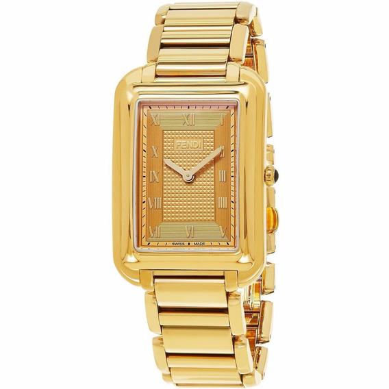 Reloj Fendi Classico Acero Inoxidable Oro Mujer F701415000