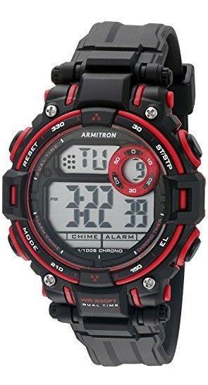 Armitron Sport 45/7066red - Reloj Digital Con Cronógrafo Y C