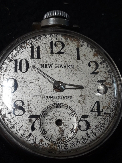 Antiguo Reloj De Bolsillo New Haven. Para Reparación