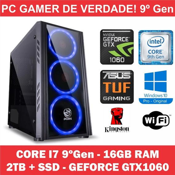 Pc Gamer Win10 Orig Core I7 9ºgen 16gb + 2tb Ssd + Gtx 1060