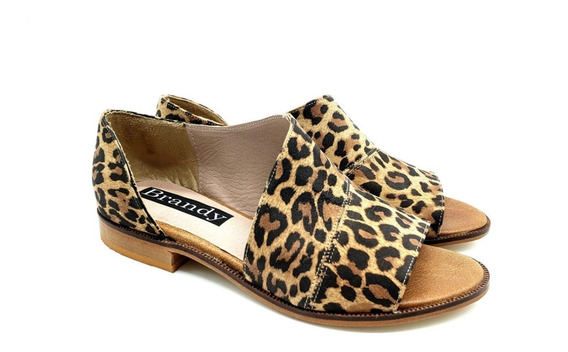 Sandalias Chatitas Balerina Abierta Cuero Mujer Zapato 300fb