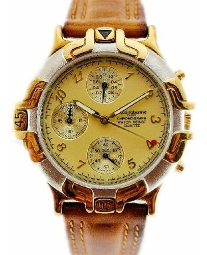 Reloj Paco Rabanne Quartz Cronografo Combinado Garantía 12m.