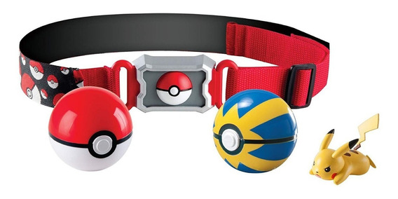 Pokemon - Kit Ciniturão De Ação - Cinto Porta Pokebola 2