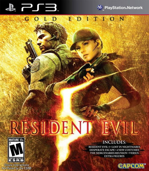 Resident Evil 5 Gold Edition + Todas Dlcs - Jogos Ps3 Playsation 3