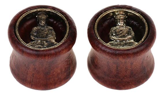 Rústico Buda Madera 8-20mm Ear Plug Túnel Stretcher