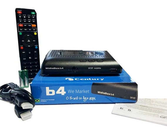Receptor Digital Midia Box Century Midiabox B4 Azul Sat Hd