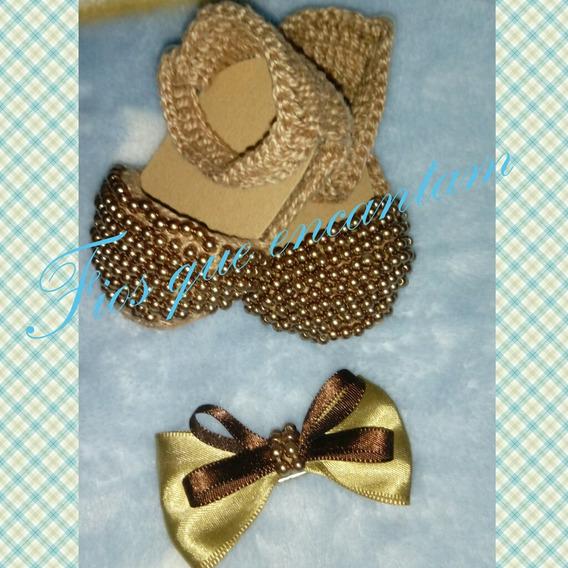 Sandalinha Croche Com Perolas 1