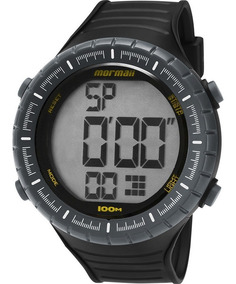 Relógio Mormaii Masculino Preto Barato Esportivo Moy1554/8y