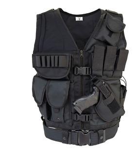 Chaleco Tactico Molle Policial Tipo Swat Reforzado Elite