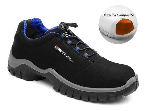 Sapato  Bota Segurança Microfibra  Bico Composite Estival