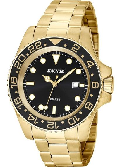 Relógio Magnum Masculino Dourado - Ma32934u