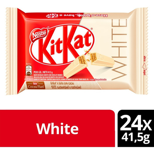 Chocolate Blanco Kit Kat® White 41,5g Pack X24