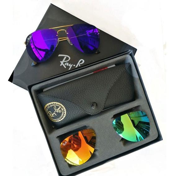 Gafas Ray-ban Rb 3460 Flip Out Tres Lentes Intercambiables