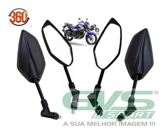 Retrovisor Mini Fazer 150 Giro 360 Pra Motos Yamaha Cod 5012