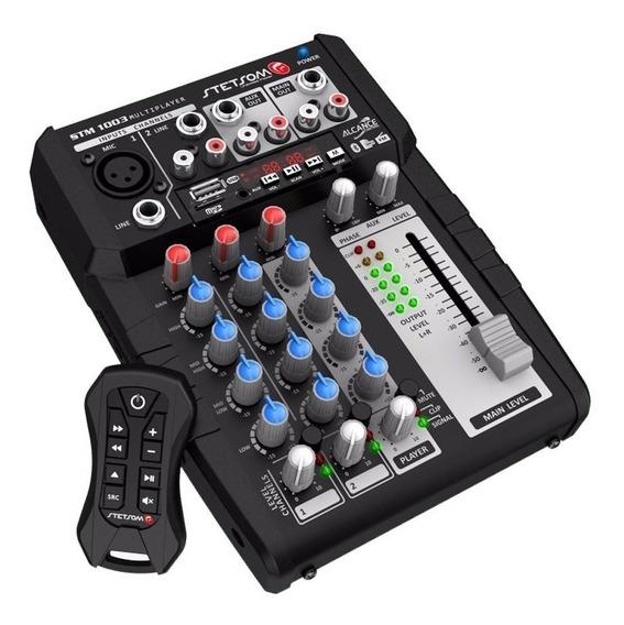 Mesa Som Automotiva Stetsom Stm1003 Multiplayer + Controle