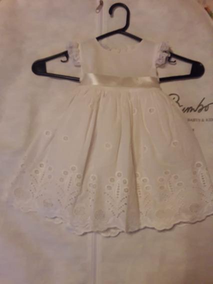 Vestido Bebe 1 Año, Bautismo, Pitti Bimbo. De Diseño Nuevo