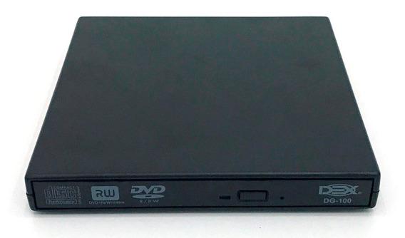 2x Drive Externo Slim Usb Portátil Gravador Leitor Cd Dvd