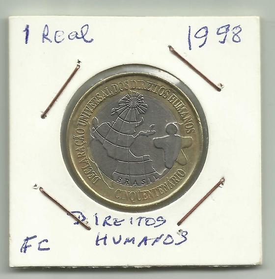 Moeda 1 Real Comemorativa 50 Anos Direitos Humanos F C - 377