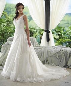Vestido De Noiva 40 Marfim Princesa Pronta Entrega - Vn00125