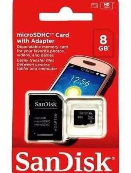 Cartão Memória 8 Giga San Disk