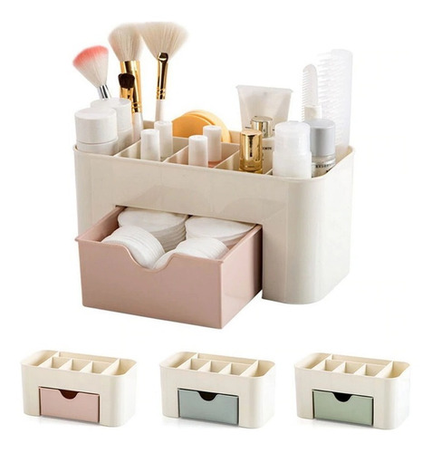 Imagem 1 de 8 de 3 Organizador Porta Maquiagem Jóias Gaveta Plástico Banheiro