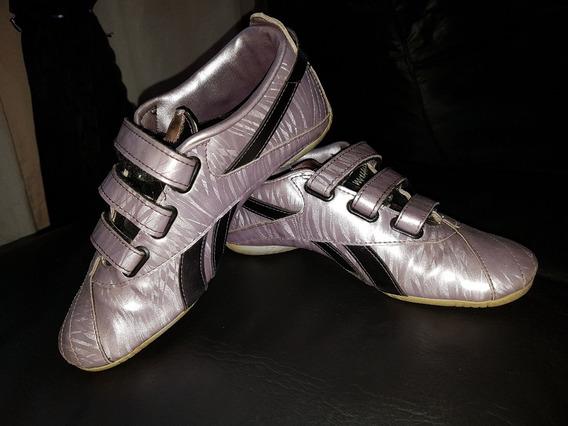 Zapatillas Reebok Originales Talle 35 Mujer Lilas Tornasolad