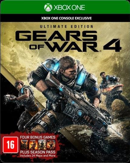 Jogo Mídia Física Gears Of War 4 Ultimate Edition Xbox One
