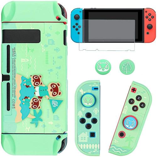 Imagen 1 de 1 de Carcasa Nintendo Switch - Animal Crossing + Mica De Vidrio