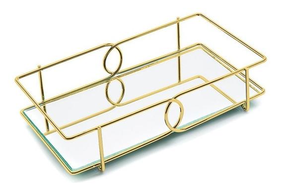 Bandeja Lavabo Elo 10 X 28 Cm Dourada