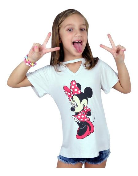 Camiseta Blusa Infantil Menina Unicornio Personagem Kit C 3