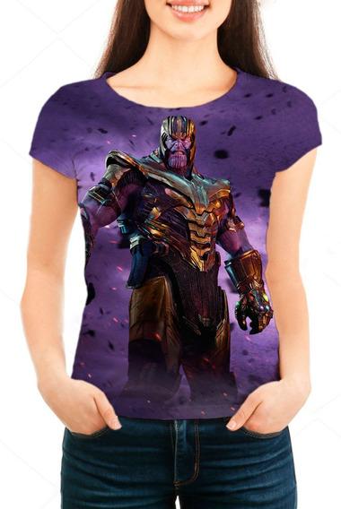 Camiseta Babylook Feminina Vingadores Ultimato Thanos - Mn01