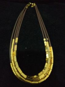 Colar 6200 - Folheado A Ouro