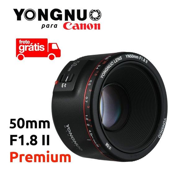 Lente Yongnuo 50mm F1.8 Premium Canon Ef Rebel Eos Camera