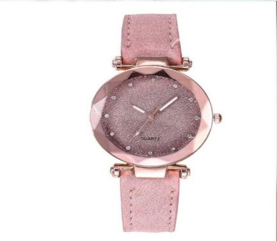 Relógio Feminino Pulso Céu Estrelado Quartz Luxo