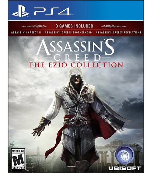Assassins Creed Ezio Collection Ps4 Mídia Física Lacrado